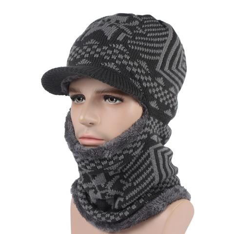 Men's Winter Knitted Balaclava Cap - Black,Gray,Navy  Men's Fashion 2017 Guys Winter For him Gift ideas dad guys boy outfit style Fashion Casual Menswear Cool Style Gift Products Website links Store Shop Buy Sell Sale Online outfit style awesome Shopping mens skullies Accessories fall autumn Winter accessoire hiver bonnet homme  modèle mode Achat Acheter en ligne Site de vente l'automne crochet tricoté AuhaShop.com