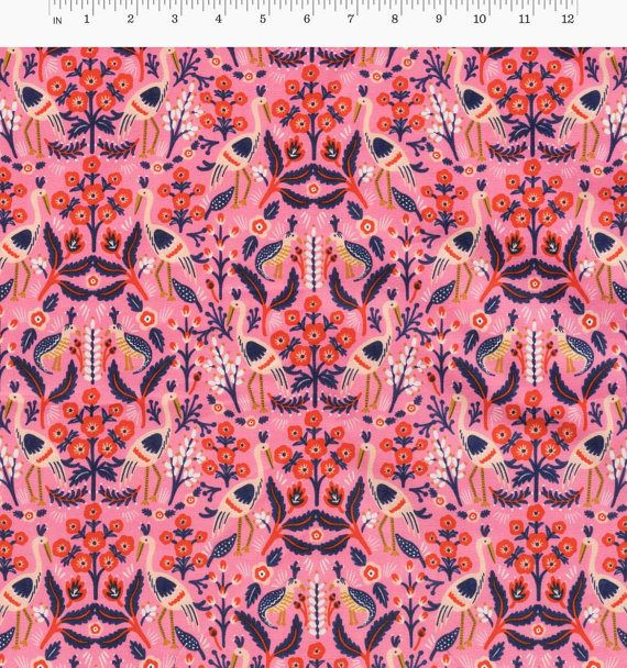 This listing is from Tapestry Rose from the Les Fleurs collection by Rifle Paper Company for Cotton + Steel. OVERVIEW  ✄ Orders ship same or next business day! I take pride in shipping fast! ✄ Multiple yardage will be cut as one continuous piece. ✄ Fabric is cut fresh off the bolt using a rotary cutter.  MEASUREMENTS + MATERIALS  ✄ 100% Premium Cotton | 44/45 Wide | Quilters Weight ✄ Need more than what is listed? Send a message and I will be happy to accommodate!  SHIPMENT + DELIVERY  ✄...
