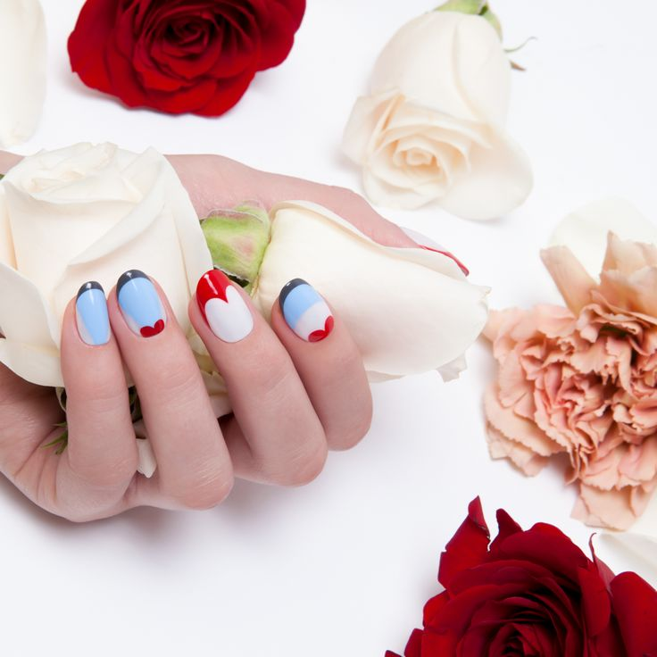 Red Queen Nail Art from OPI's new collection // Disney's Alice Through the Looking Glass // shades used: Having A Big Head Day, The I's Have It