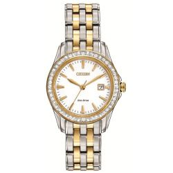 Eco-Drive Ladies' Silhouette Crystal Watch, Women's