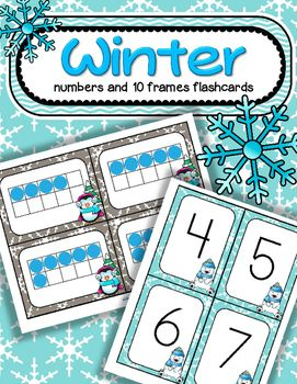 ***FREE*** A set of BIG Winter theme number flashcards 0-20, plus a set of 10-frame flashcards, 0-20 - for centers, individual work, and small group teaching. They can used for matching, sequencing, subitizing, recognition, and memory, concentration and snap games.