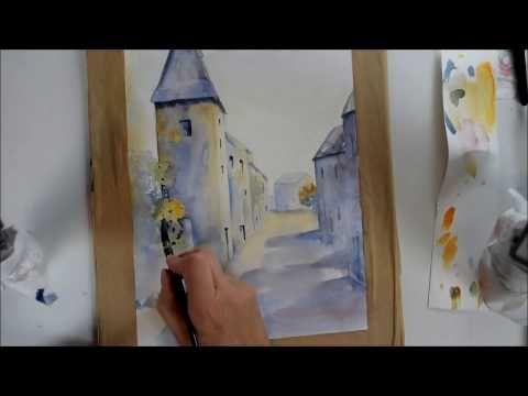 Comment Peindre Un Village Aquarelle Debutant 3 Youtube