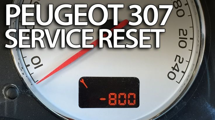 How to #reset #service reminder in #Peugeot #307 #maintenance inspection indicator