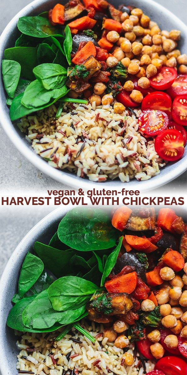 Vegan Harvest Bowl With Chickpeas