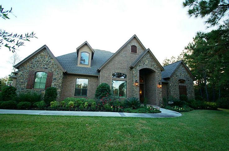 River rock exterior pinterest acre home and in love French country stone