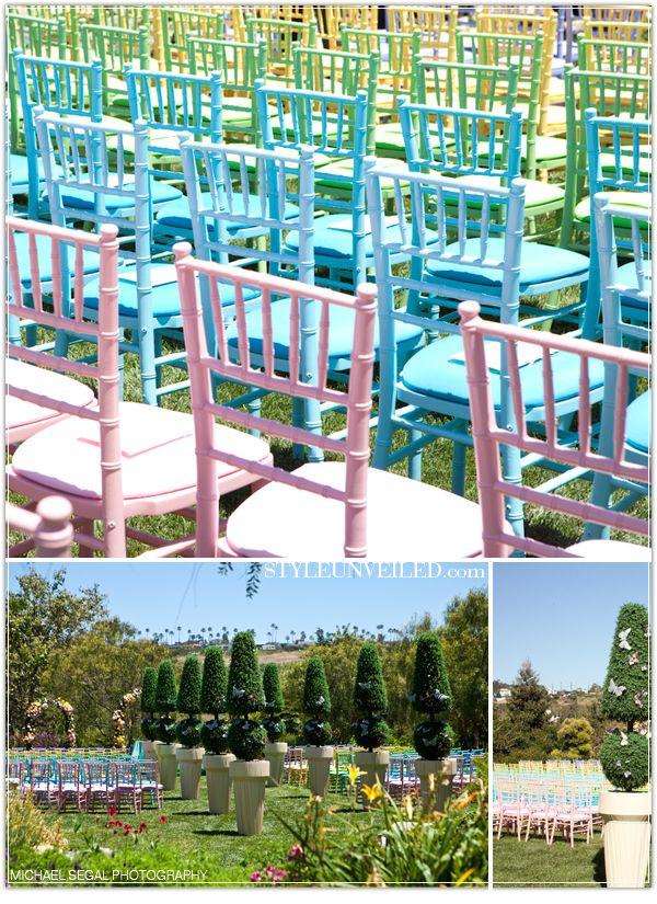 Pastel chivari chairs!