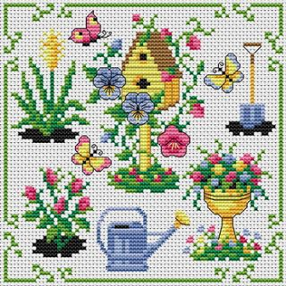spring cross stitch