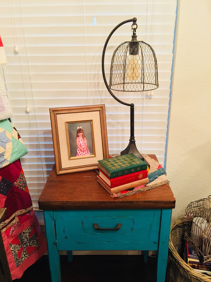 Old sewing machine cabinet for my daughter someday!