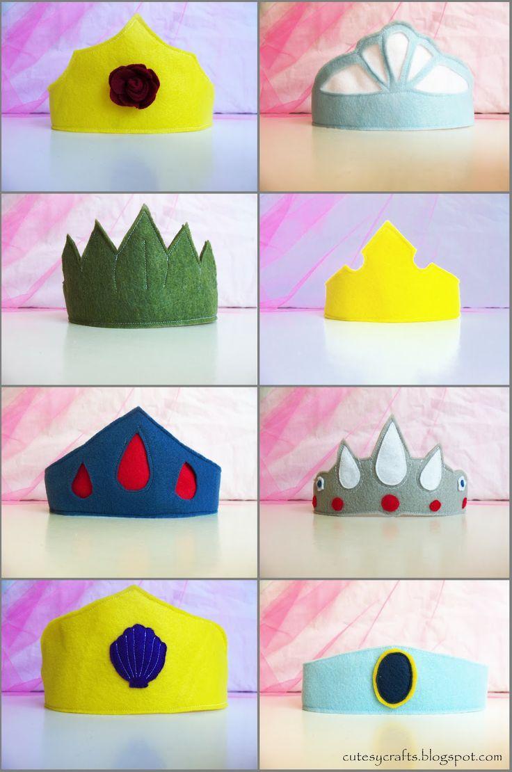 Cutesy Crafts  Felt Princess Crowns