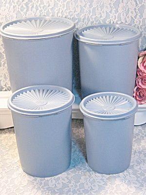 Vintage Tupperware Blue Canister Set I M Missing The