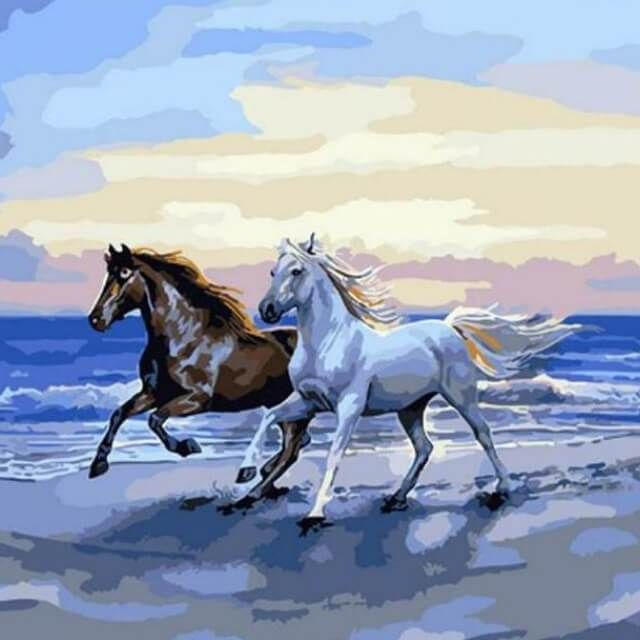 16x20/'/' Running Horse New Diy Paint By Numbers Kits Acrylic Painting On Canvas