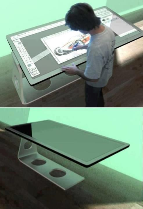 Tabletop computer for designers.