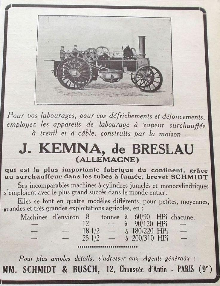 PUBLICITE AGRICOLE APPAREILS DE LABOURAGE A VAPEUR REF 7195 in Collections, Objets publicitaires, Publicités papier | eBay