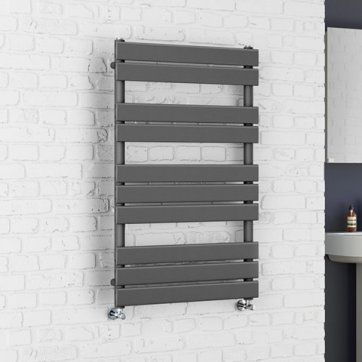 1000x600mm Anthracite Flat Panel Ladder Towel Radiator - Francis [PT-RA1000600] - £194.99 : Platinum Taps & Bathrooms