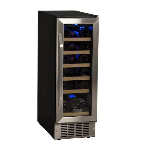 EdgeStar 12 Inch 18 Bottle Built-In Wine Cooler. This 12inch width will fit perfectly to the right of the fridge.