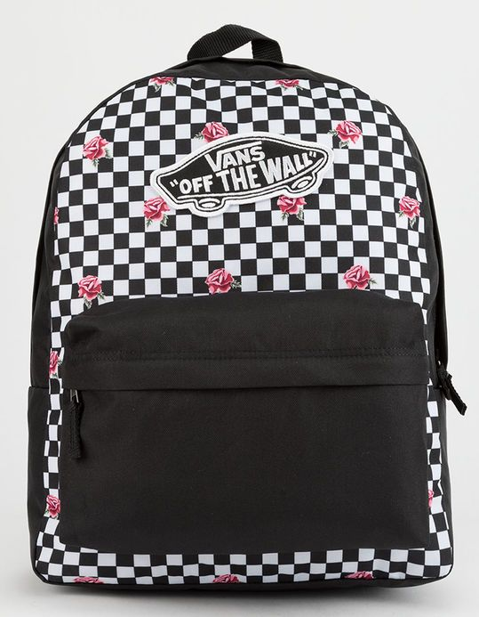 8f39479b034 VANS Realm Rose Checkerboard Backpack
