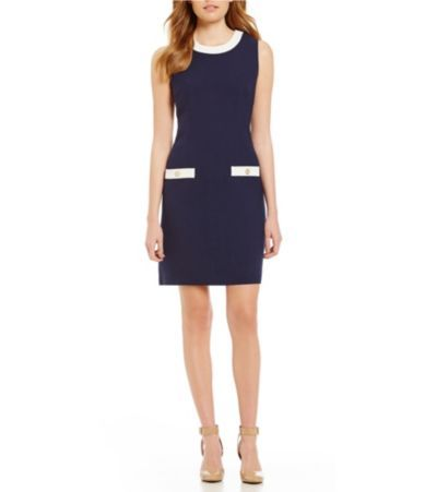 Shop for KARL LAGERFELD PARIS Crew Neck Sleeveless Crepe Sheath Dress at Dillards.com. Visit Dillards.com to find clothing, accessories, shoes, cosmetics & more. The Style of Your Life.