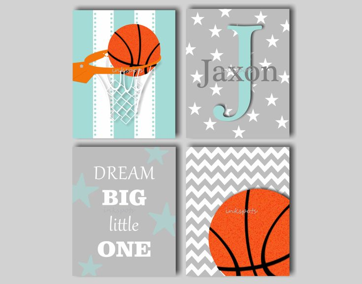 Baby Boy Nursery Art Boys Room Sports Art by inkspotsgallery, $45.00