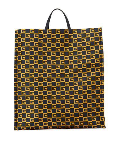 9706697f15e GUCCI MEN S GG SUPREME CUBE-PRINT TOTE BAG.  gucci  bags  leather  hand bags   canvas  tote