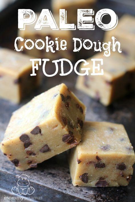 #glutenfree cookie dough fudge recipe #healthydesserts