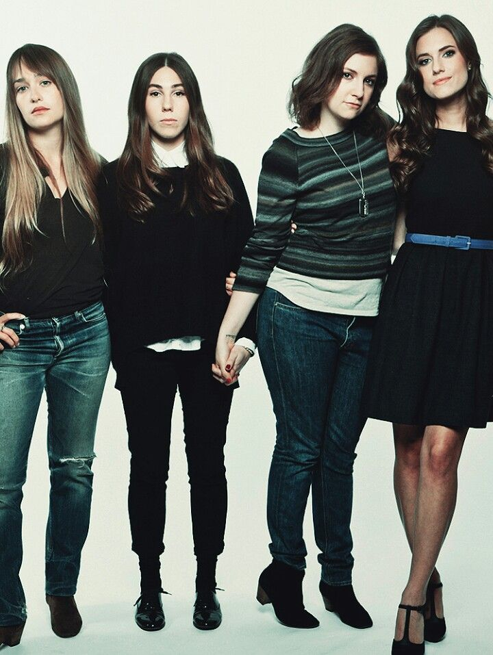 Great pic of the cast of Girls, I really love Jessa's bangs