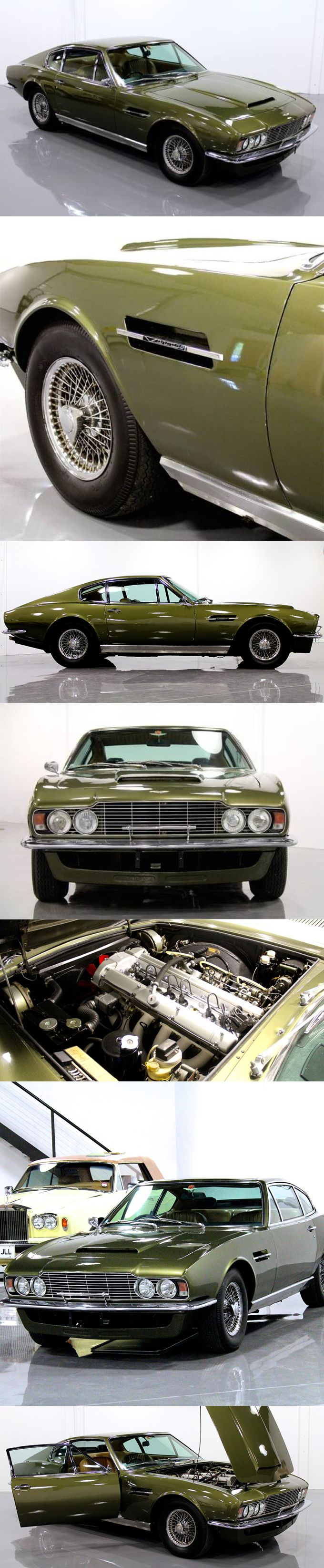 1970 Aston Martin DBS Vantage / 325hp 4.0l L6 / William Towns / UK / green / William Towns / 17-278 http://amzn.to/2sU00bB