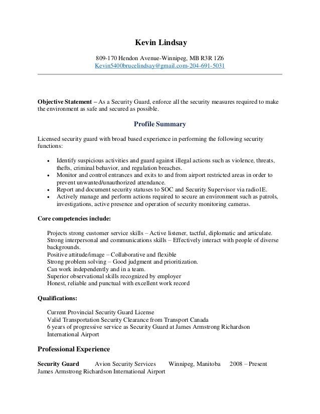 Security Guard Resume Security Resume Resume Examples Security Guard Jobs