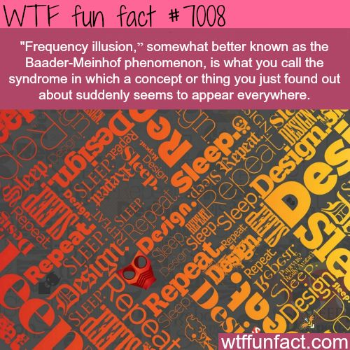 Baader-Meinhof phenomenon - WTF fun facts