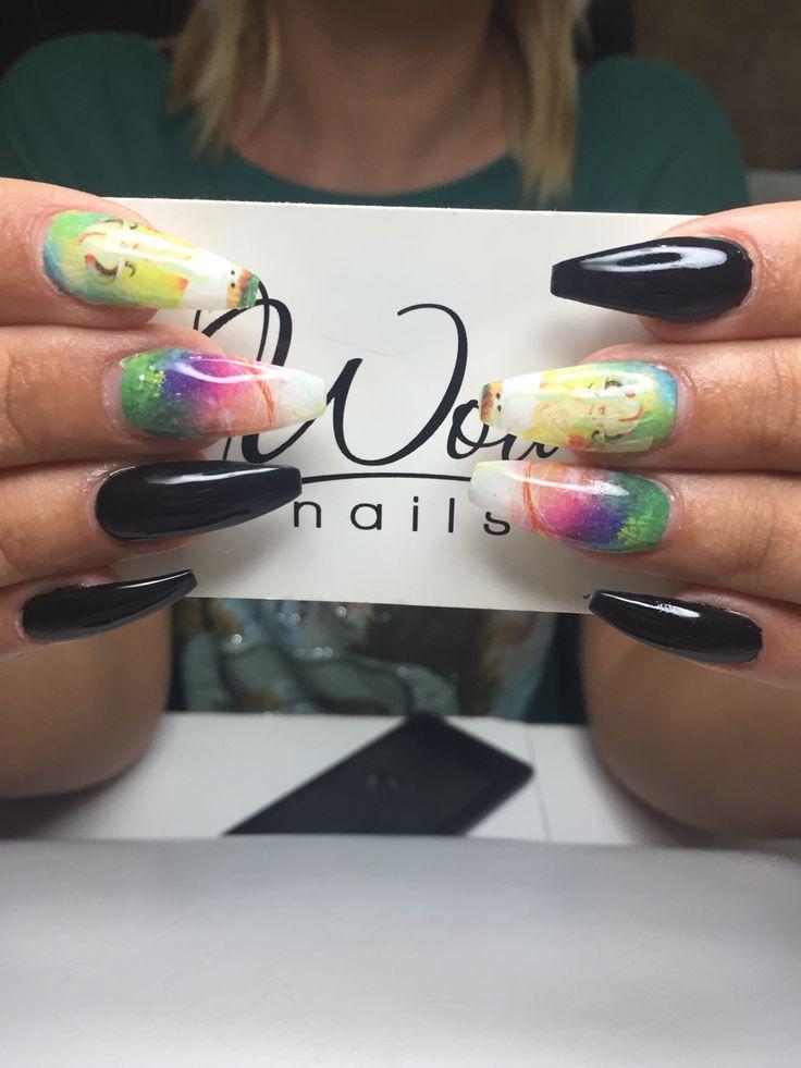 Black ballerina nails