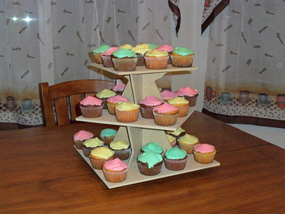 3 Tier Cupcake Stand Square Zig Zag by FranksCrafts on Etsy, $24.95 This could be used for many celebrations.