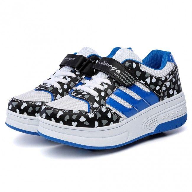 Bleu Chaussure Avec Roues Doubles