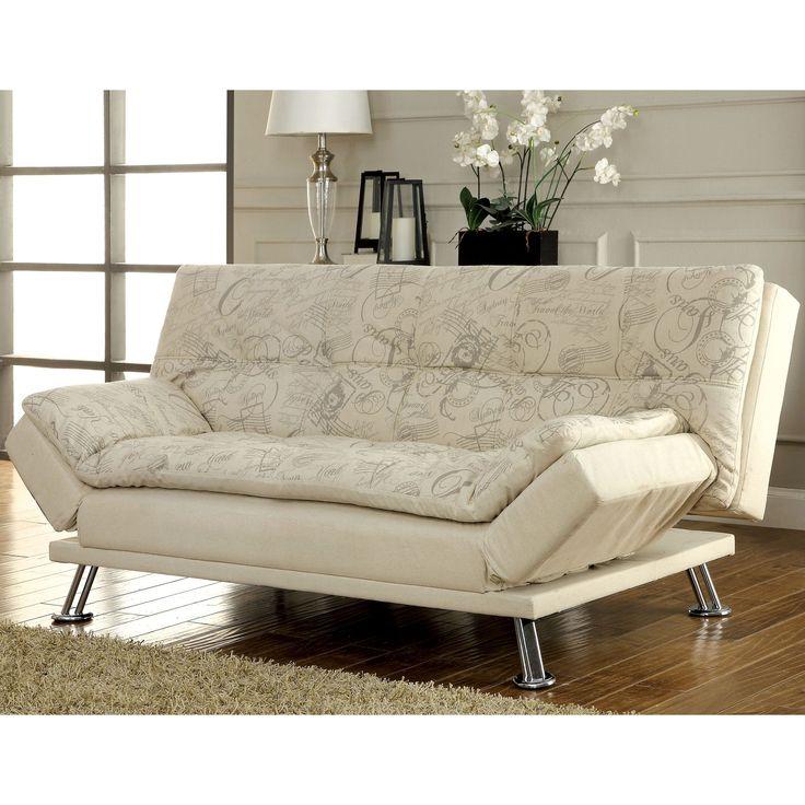 Leather Sectional Sofa Furniture of America Aubreth Modern Futon Sofa