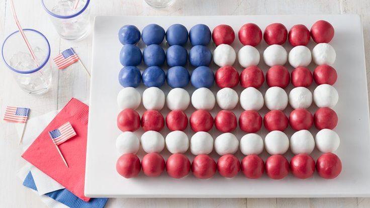 Cake Ball Flag Cake