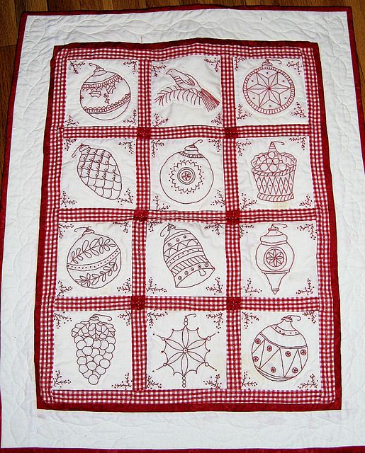 Redwork Quilt Patterns Christmas : 17 Best images about Redwork - Christmas on Pinterest ...