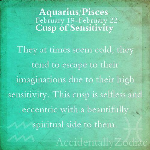 cusp of sensitivity
