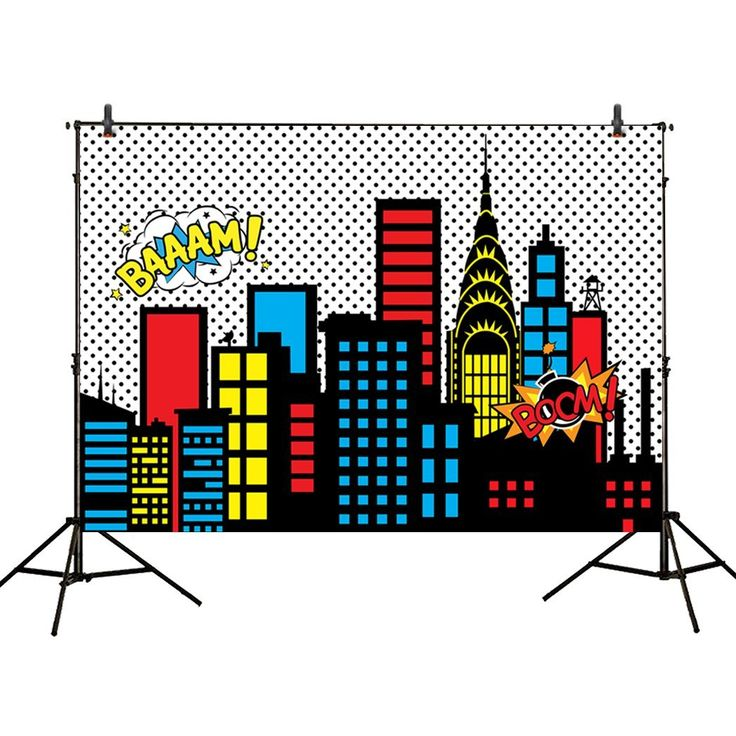 Amazon.com : Allenjoy 7x5ft photography backdrops superhero super city full moon night buildings boys birthday party event banner photo studio booth background baby shower photocall : Electronics