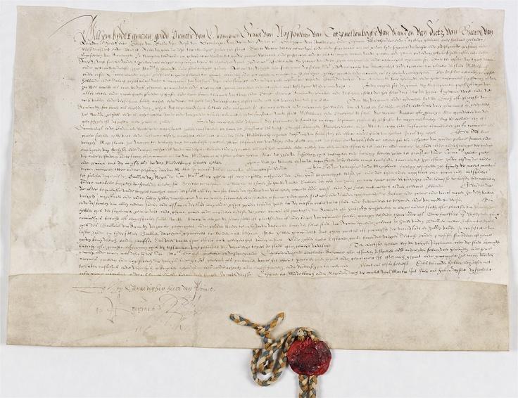 Arnemuiden kreeg in 1574 stadsrechten van Willem van Oranje. Aan het charter hangt zijn zegel.  http://www.archieven.nl/nl/zoeken?mivast=0=210=239=1=1200=1295735=inv2