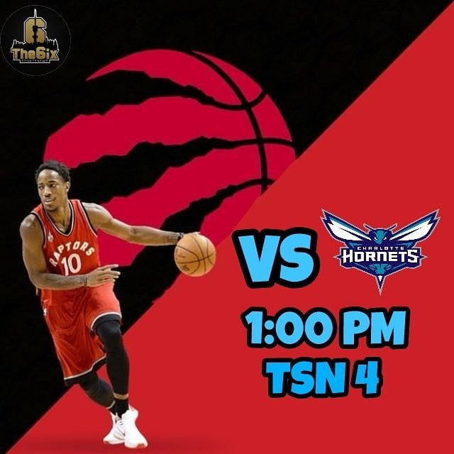 The Raptors will face the Charlotte Hornets on an early game today at 1:00 PM and look to win 5 in a row. Tune in on TSN 4 or radio TSN 1050 Toronto. . . . . #warriors #nba #basketball #nyknicks #knicks #raptors #torontoraptors #celtics #bostonceltics #sixers #philadelphiasixers #nets #lbj #playoff #heatnation #letsgoheat #ilovethisgame #slam #court #myteam #rockets #ballers #buckets #baloncesto #streetball #ballup #nbamemes #pelicans #hornets #mavericks