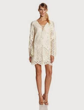 lace shift dress: Cream Lace Shift Dress