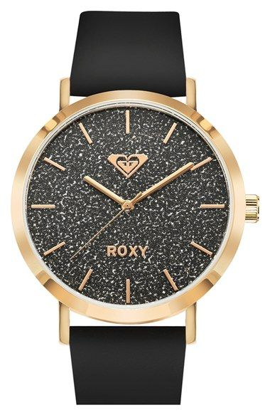 Roxy 'The Royal' Glitter Dial Watch, 40mm available at #Nordstrom