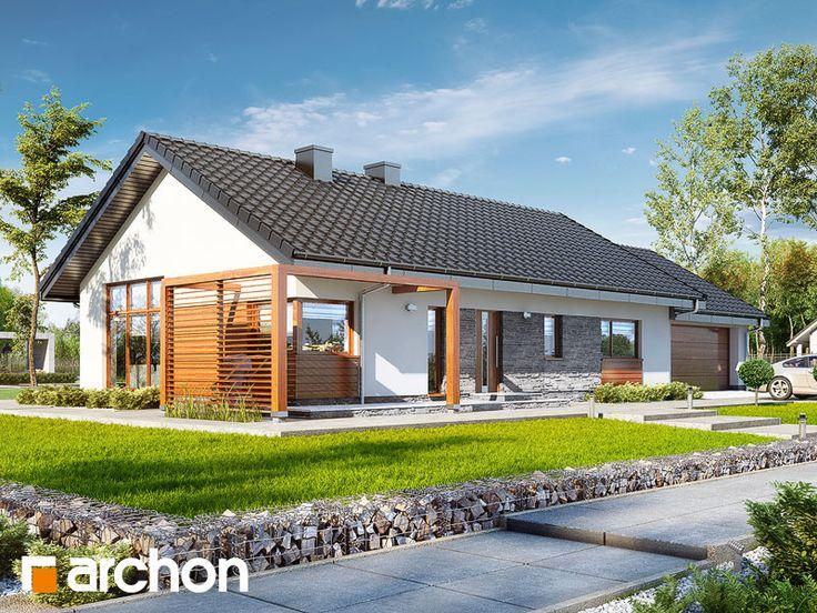 Dom w mekintoszach 4 (G2) - nowoczesny projekt domu z poddaszem użytkowym i bogatym programem funkcjonalnym parteru.