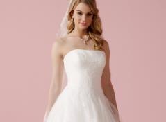 Brautkleid mit Chantilly-Spitze