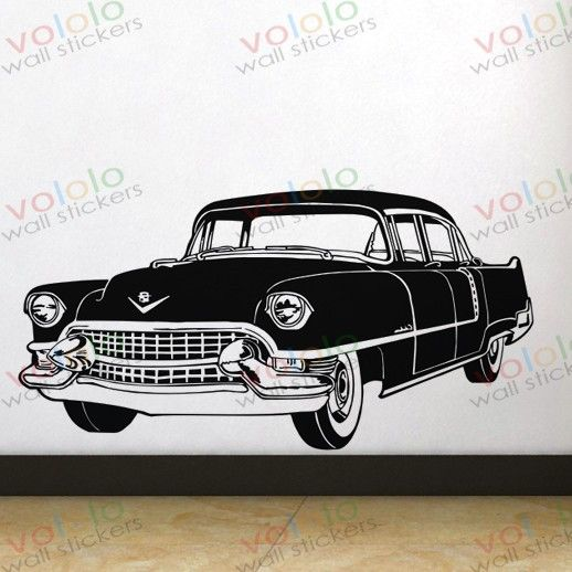 Free shipping Wall Stickers Wholesale and retail Wall decor PVC material decals wallpaper classic car  C-127