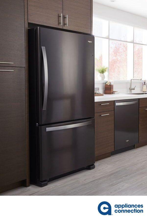Whirlpool Wrb322dmhv 1 699 00 In 2020 Bottom Freezer Glass Shelves Home Appliances