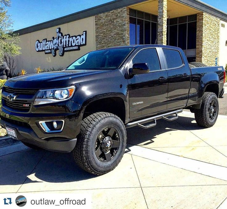 "#Repost @outlaw_offroad A #sick #2016 #Chevy #colorado with a 5.5""…"