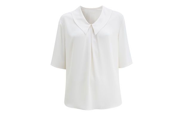 "Cream Loose Blouse. ""Feminine and fresh, this loose-fit blouse is perfect for work. Or, wear simply with your favourite skinnies."""
