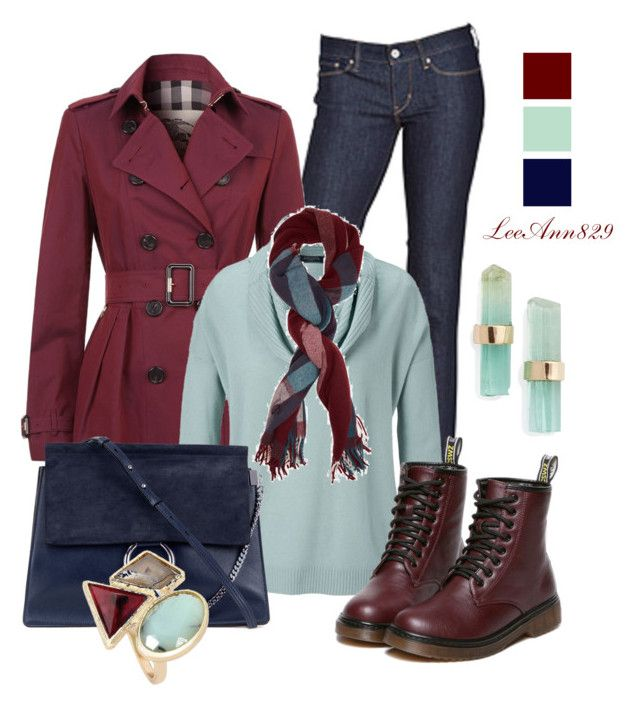 """""""3 colors contest"""" by leeann829 ❤ liked on Polyvore featuring Levi's, Burberry, Chloé, Holzweiler and Melissa Joy Manning"""
