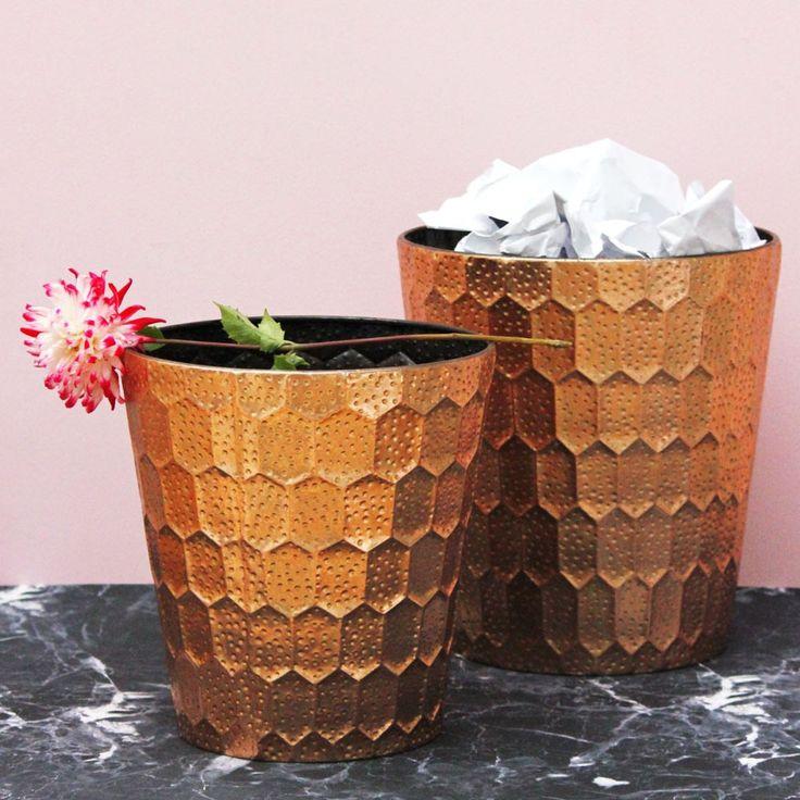 Honeycomb Waste Basket Large