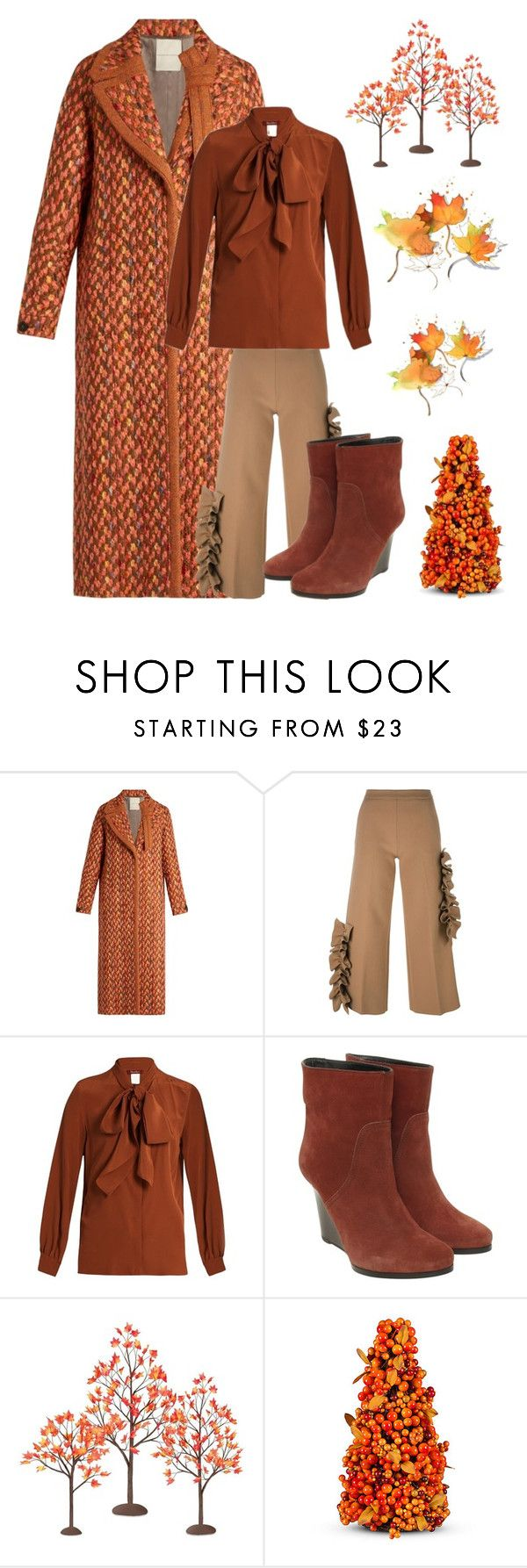 """""""Fall"""" by kotnourka ❤ liked on Polyvore featuring Marco de Vincenzo, MSGM, MaxMara, BOSS Orange, Department 56 and Improvements"""