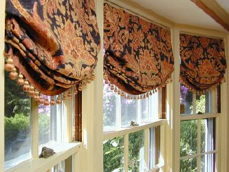 Balloon Shades For Large Windows | Custom Window Treatments Balloon Shades